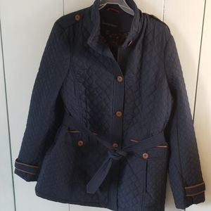 Lands End navy XL/T quilted jacket